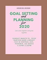 Growshop: Goal Setting & Planning
