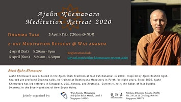 2 days meditation retreat by Ajahn Khemavaro