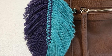 Adult Beginner Macrame Feather Beaded Necklace and Keyring Workshop tickets