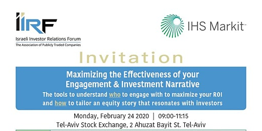 Maximizing the Effectiveness of your Engagement & Investment Narrative