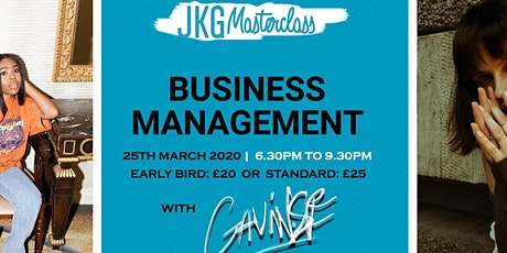 JKG MASTERCLASS: BUSINESS MANAGEMENT WITH GAVIN SF tickets