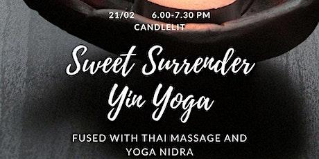 Yin Yoga Thai massage and Nidra tickets