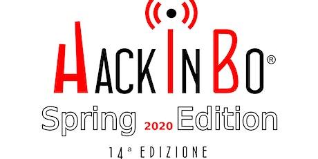 """HackInBo® """"Sicurezza all'ombra delle Torri"""" Spring Edition 2020 tickets"""
