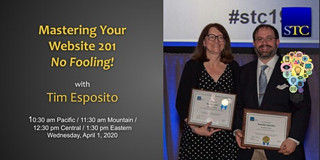Mastering Your Website 201 No Fooling! with Tim Esposito tickets