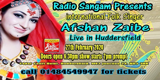 Afshan Zaibe Live for the first time in the UK