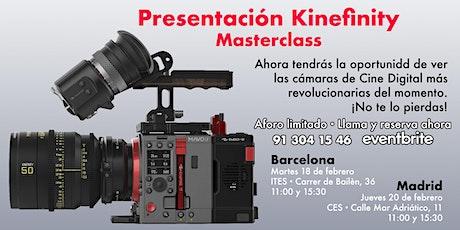 Kinefinity Masterclass en Barcelona. 18 Feb. 11:00h entradas