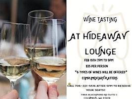 WINE TASTING AT HIDEAWAY