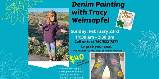 Let's Paint our Jeans at Ramona Ranch Winery