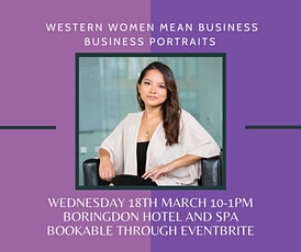 Western Women Mean Business - Head shots photoshoot - Plymouth tickets