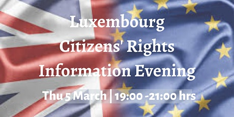 Citizens' Rights Information Evening billets