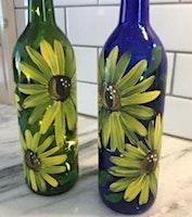 June 16th Stella's Not Your Average Paint-N-Sip Sunflower Lit-Wine Bottle