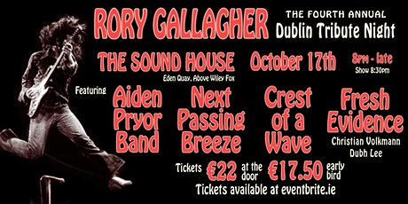 Fourth Annual Rory Gallagher Dublin Tribute Night tickets