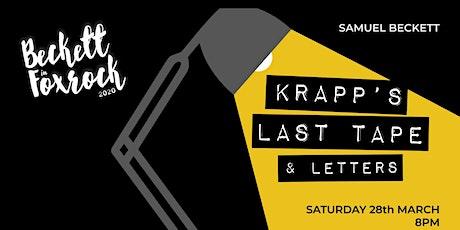Beckett in Foxrock 2020 - Krapp's Last Tape & Letters tickets