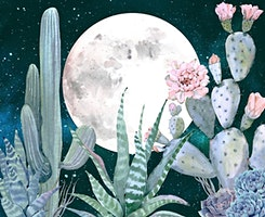 Full Moon and Cacti Paint Night