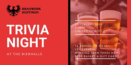 Trivia Night at Brauwerk Hoffman tickets