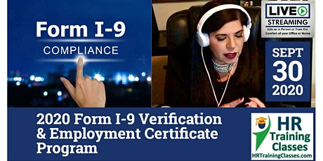 2020 Form I-9 – Verification and Employment Certificate Program tickets
