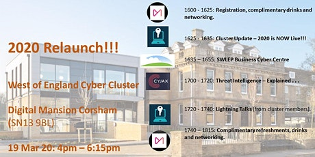 West of England Cyber Cluster Event #1: Launching 2020 tickets