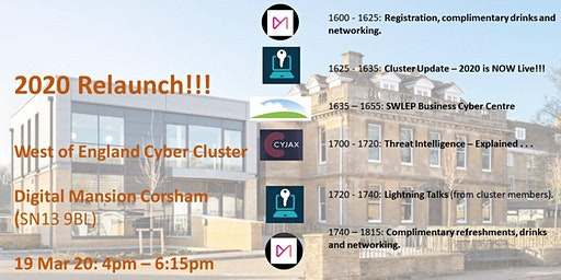 West of England Cyber Cluster Event #1: Launching 2020
