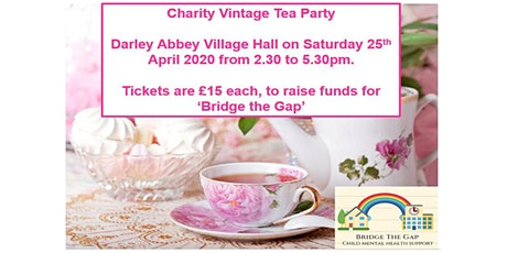Charity Tea Party - 25th April, 2.30-5.30 pm - Darley Abbey Village Hall tickets