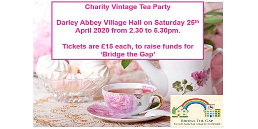 Charity Tea Party - 25th April, 2.30-5.30 pm - Darley Abbey Village Hall