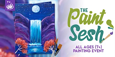 All Ages Paint Night (7+) in Riverside: Night Falls