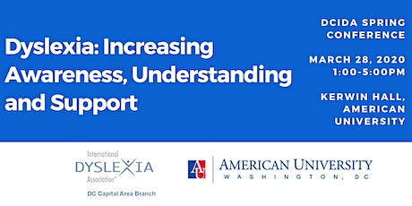 DCIDA Conference- Dyslexia: Improving Awareness, Understanding and Support tickets