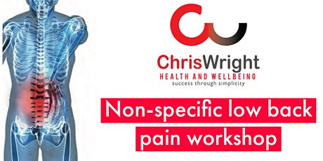 Non-specific Low Back Pain Workshop tickets