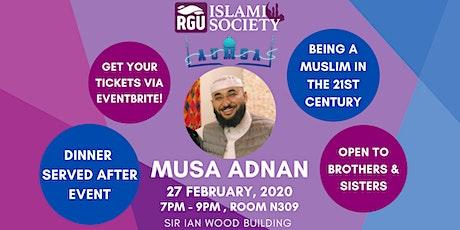 Musa Adnan: Talk tickets