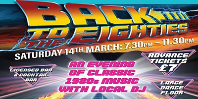 Back to the 80s Music Night at Torquay Museum