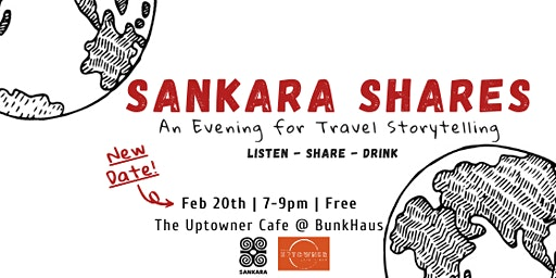 Sankara Shares: An Evening for Travel Storytelling - NEW DATE