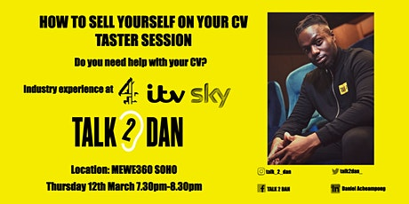 How to Sell Yourself on your CV - Taster Session tickets