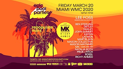 Repopulate Mars // Epic Pool Party tickets