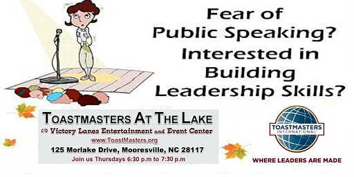 Come and Learn How to Overcome the Fear of Public Speaking