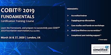 COBIT 2019 Fundamentals Workshop tickets