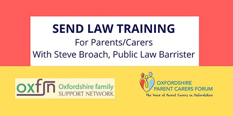 SEND Law Training for Parents/Carers tickets
