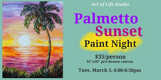 Paint Night: Palmetto Sunset