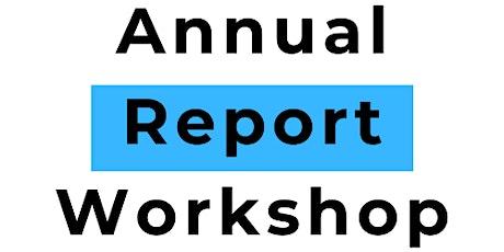 Preparing an Annual Report - Kilrush tickets
