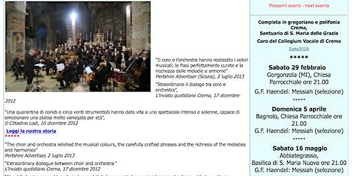 Concerto: G.F. Haendel - Messiah (selezione)