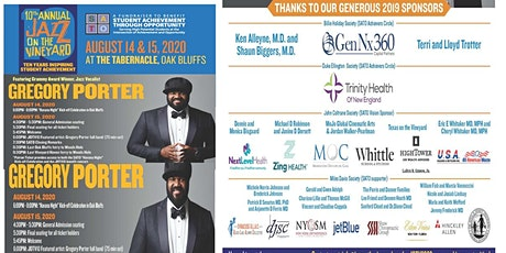 (Canceled until 2021)Jazz On the Vineyard 10!! An evening with Gregory tickets