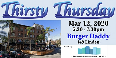 Thirsty Thursday - March - Burger Daddy tickets