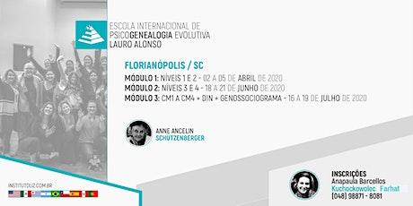 INSCRIÇÃO - FLORIANÓPOLIS - FORMAÇÃO PSICOGENEALOGIA EVOLUTIVA - TURMA III ingressos
