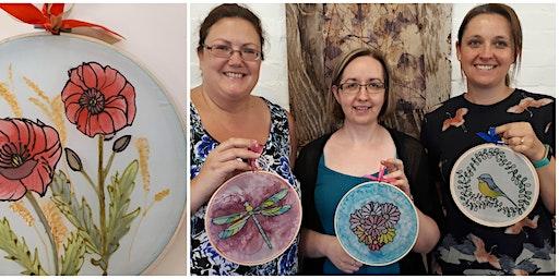 Adults Silk Painting Workshop in Trowbridge, Wiltshire