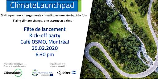 Lancement ClimateLaunchpad Canada 2020 - Kick-off