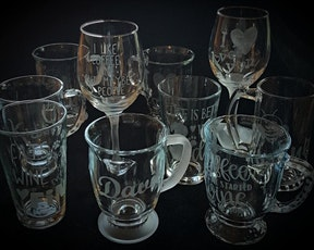 Glass Etching Workshop ~ Coffee & Wine Make Everything Fine tickets