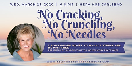 """No Cracking, No Crunching, No Needles"" with Sharon Edmiston tickets"