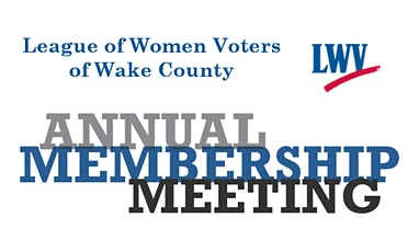LWV-Wake Annual Meeting tickets