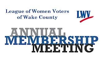 LWV-Wake Annual Meeting