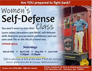 Women's Self Defense Class tickets