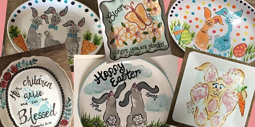Easter Handprint Pottery Day