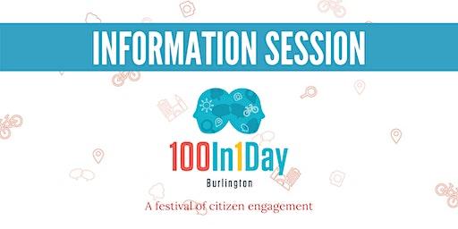 100in1Day Burlington Information Session